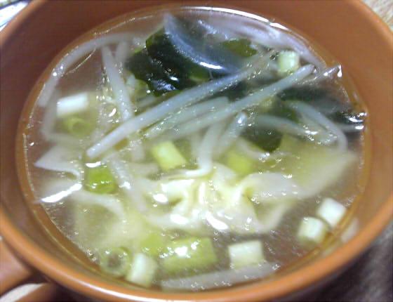 ベーコン レタス スープ