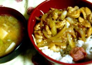 生姜焼き丼