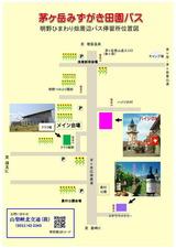 明野ひまわり畑周辺バス停図