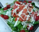 スモークサーモンのサラダ