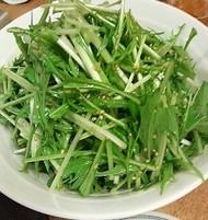 水菜と白ゴマのサラダ_1