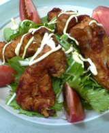 鶏唐揚げ入りサラダ