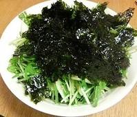 水菜と白ゴマのサラダ_2