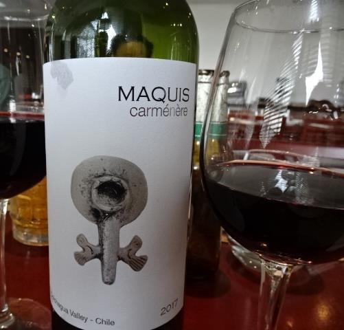 チリのワインボトルを開けた