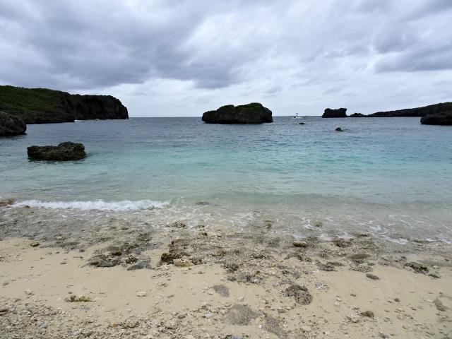 中の島ビーチサンゴが育っている
