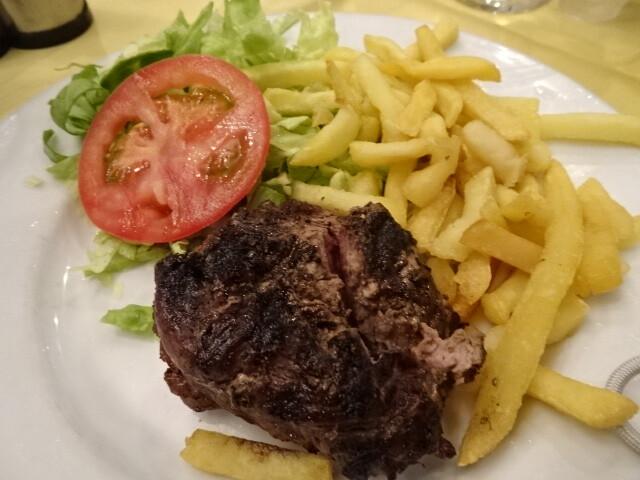 ウルグアイ人の半分以下のステーキ