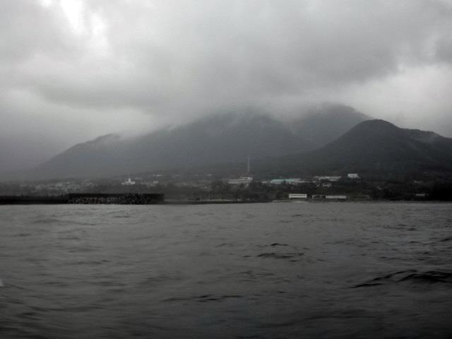 屋久島は雨だった