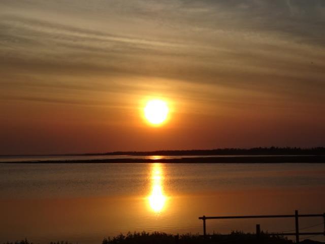 風連湖に沈む夕日