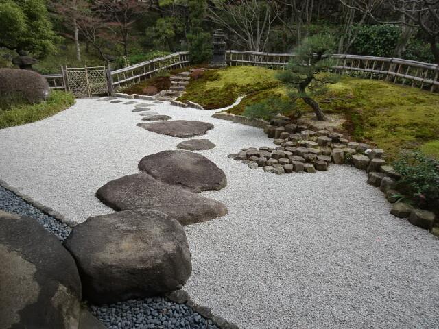 松桐の間から見た庭