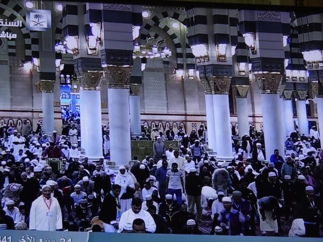 メディナのモスクの様子