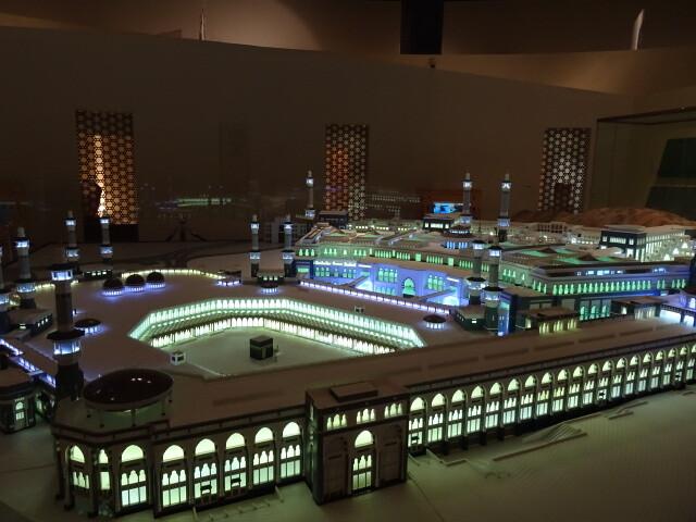 メッカのモスクカーバ神殿が見える