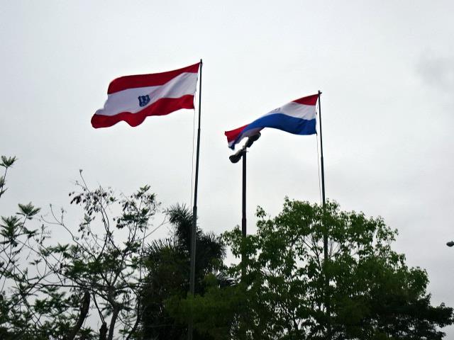 アスンシオンとパラグアイの旗