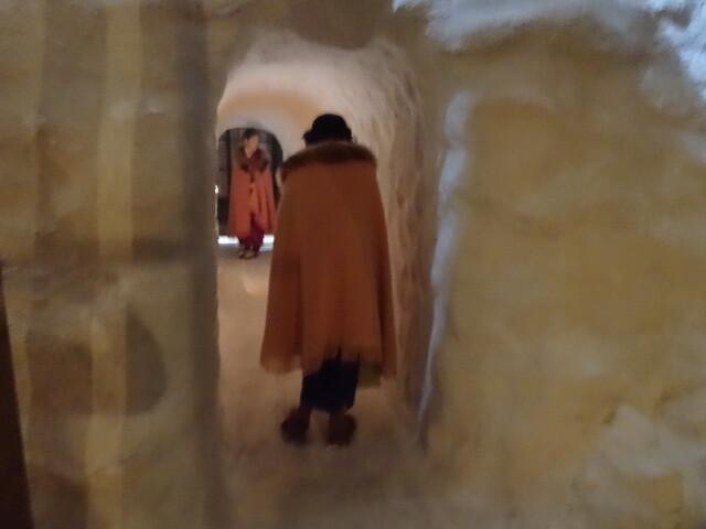 雪の下のトンネル