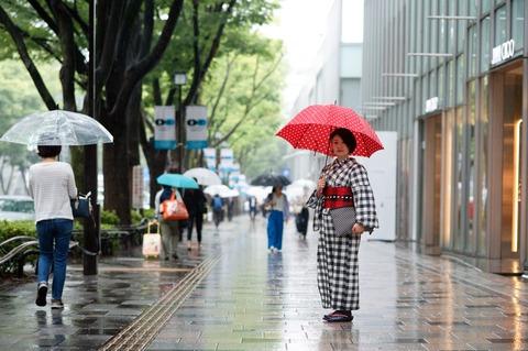 土砂降りの中着物で出かけるとこうなります