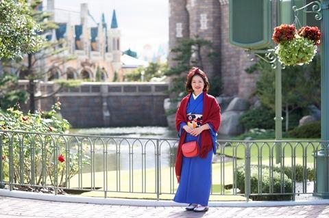 着物でディズニー☆和装白雪姫in東京ディズニーランド