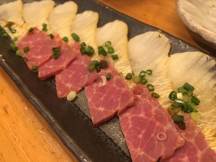 函館 居酒屋かまだ 鯨ベーコン