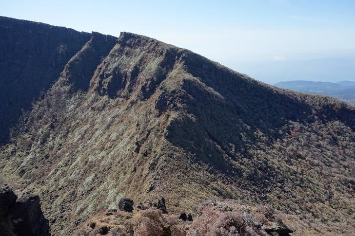 韓国岳 爆裂火口 北壁