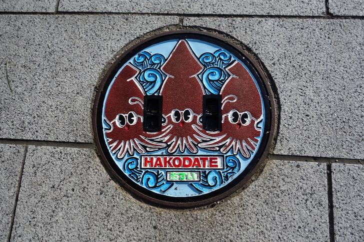 函館 マンホール イカ