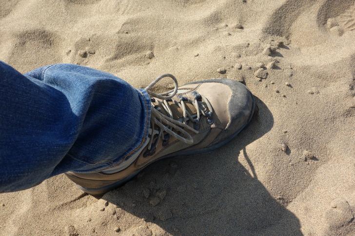 鳥取砂丘 登山靴