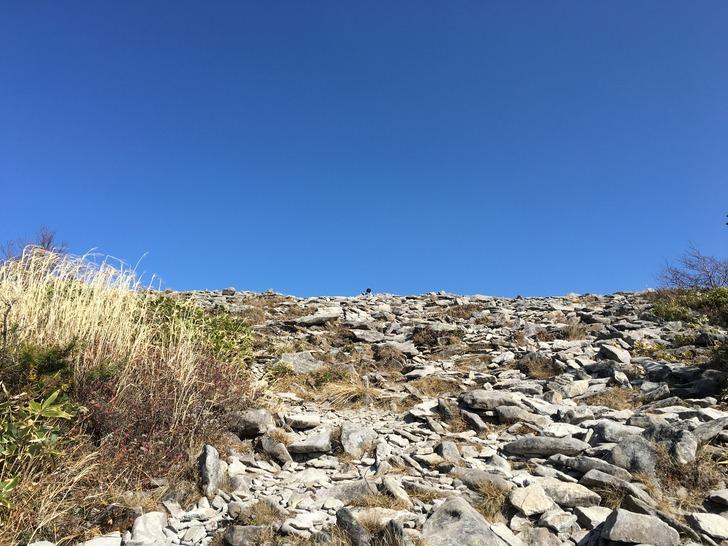 烏帽子岳から湯の丸山山頂直前