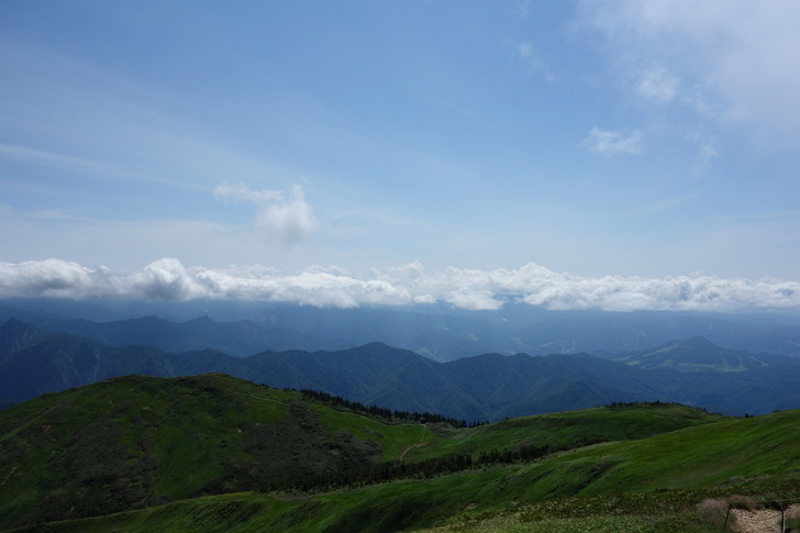 巻機山 真の山頂からの景色