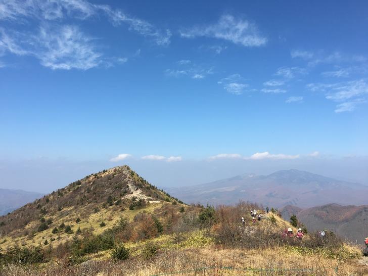 小烏帽子岳から見る烏帽子岳