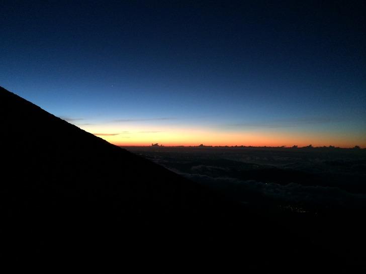 富士山 日の出直前