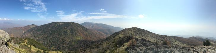 烏帽子岳山頂からのパノラマ写真