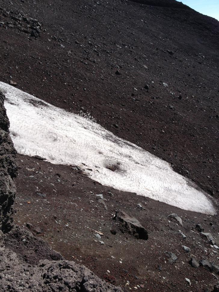 富士山 万年雪