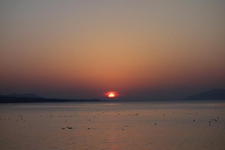 宍道湖 夕日