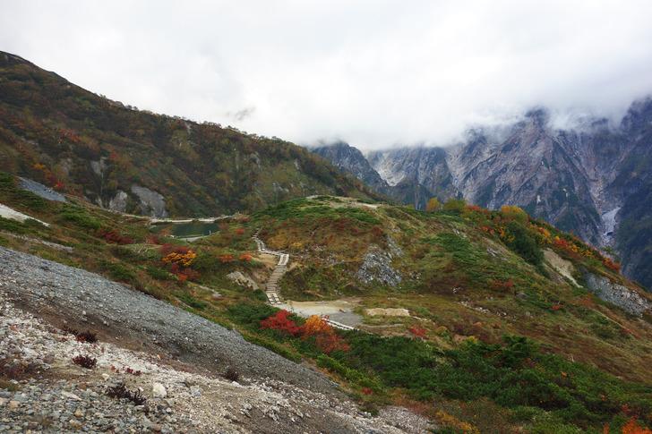 唐松岳 八方池