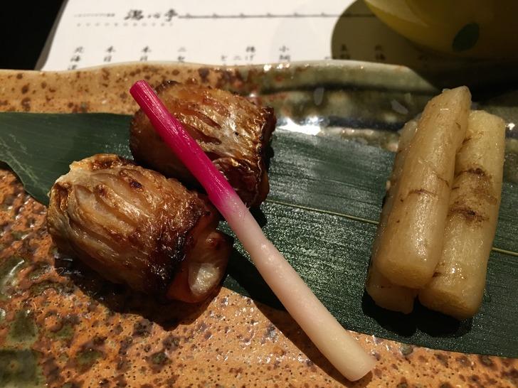 湯心亭 小鯛のひしお焼き たたき牛蒡添え