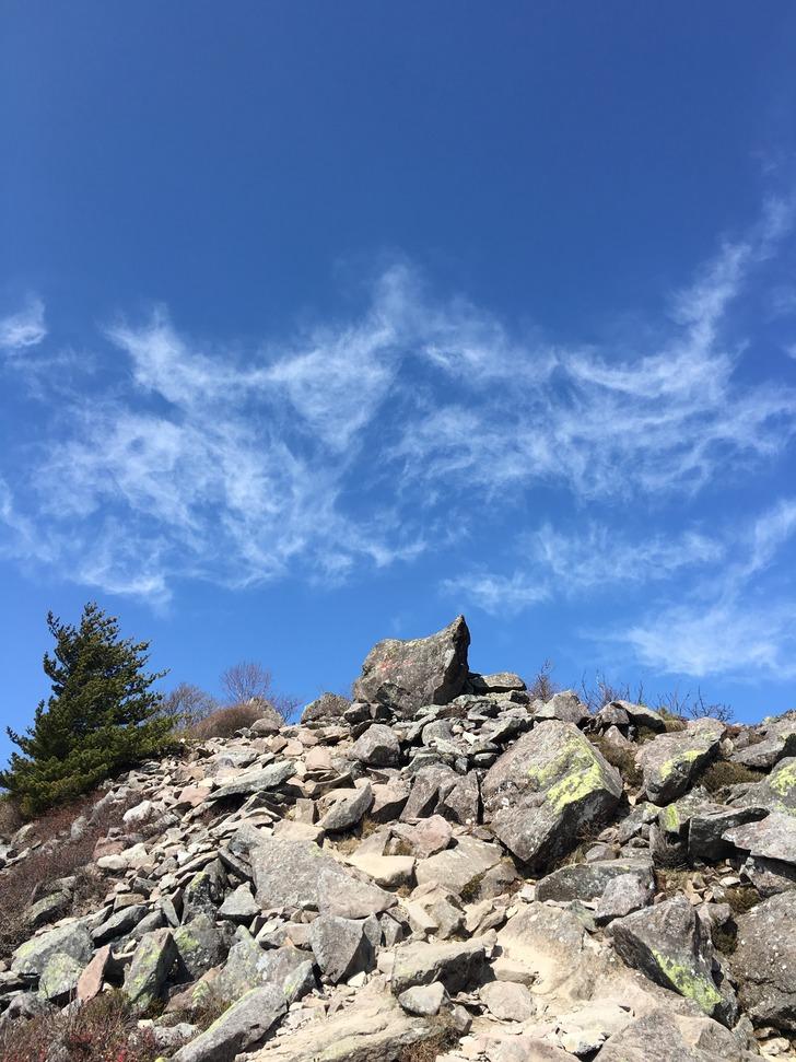 烏帽子岳山頂目前