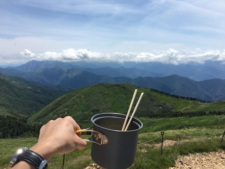 巻機山 絶景とラーメン