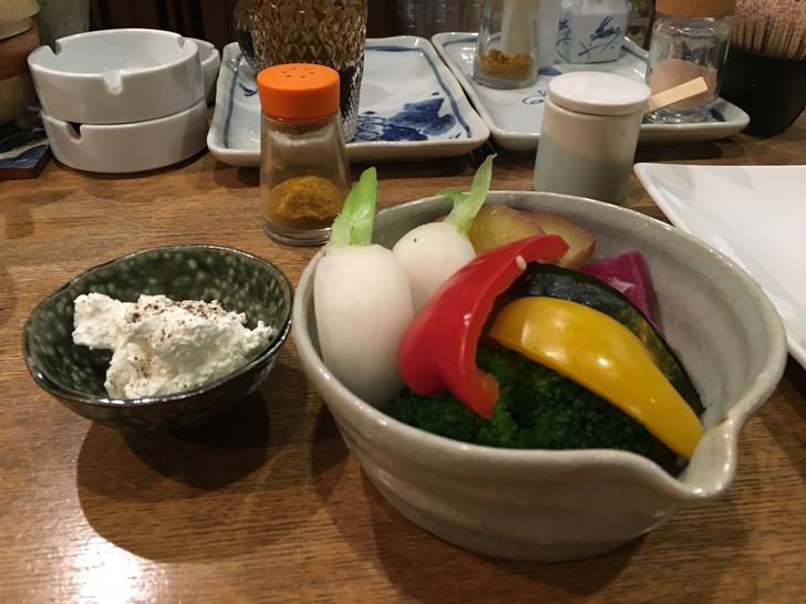 茶酒厨房 おか季 温野菜のディップ添え