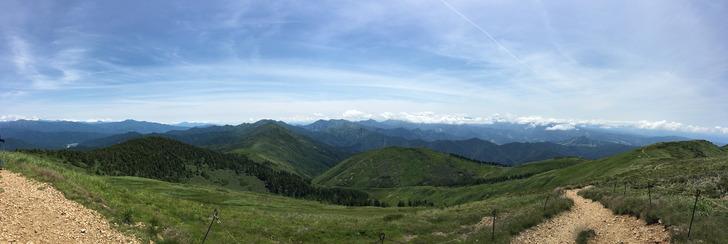 巻機山 真の山頂からの景色パノラマ