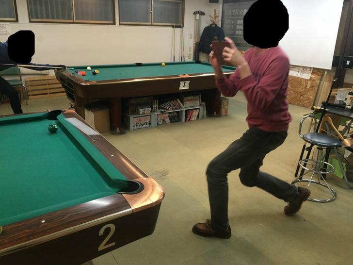 函館 居酒屋かまだ ビリヤード