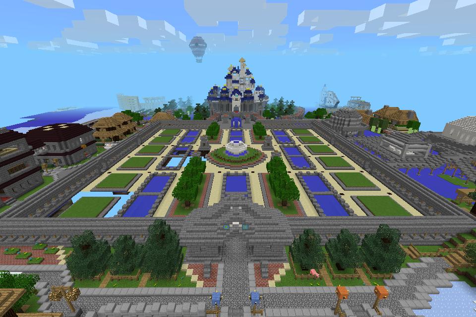 マインクラフト建築 夢の国のお城