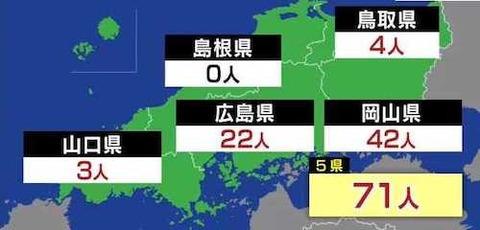 中国地方感染者 0410