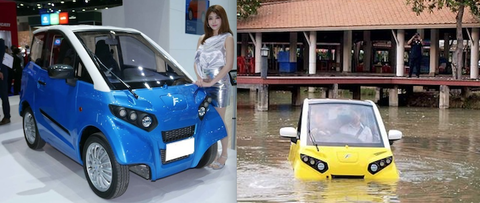 人の命を守る・災害に強いEV車? 「水に浮くクルマ」
