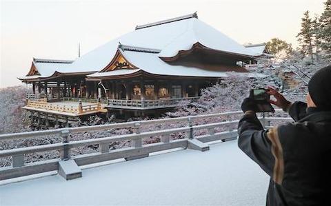 清水寺 雪