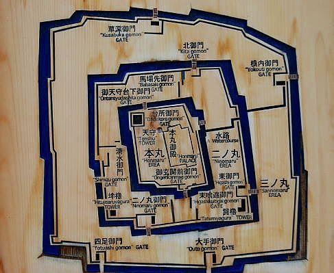 駿府城略図