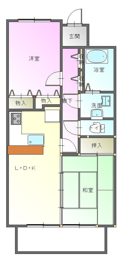 マンション-平面図(1階)