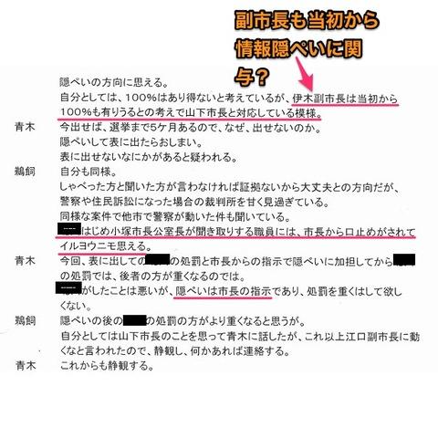 伊木副市長が情報隠蔽に直接関与? - 2