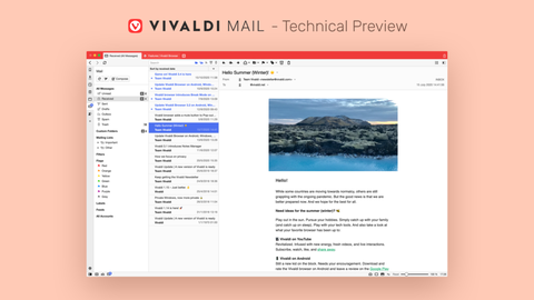 Vivaldiついにメール機能を実装!カレンダー・タスク・RSSリーダー機能も実装(追記あり)