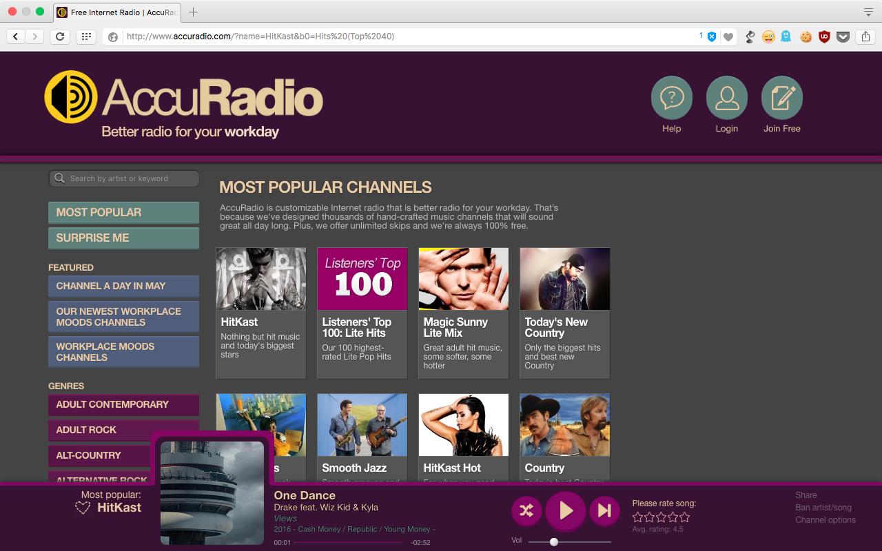 WEB版AccuRadio - 2(再生中)