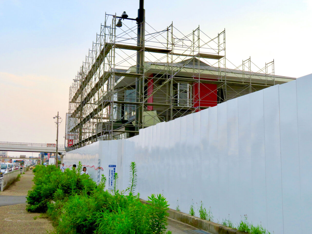 解体工事中の旧・ザ・モール春日井(2019年7月28日) - 15:マクドナルドも撤去開始