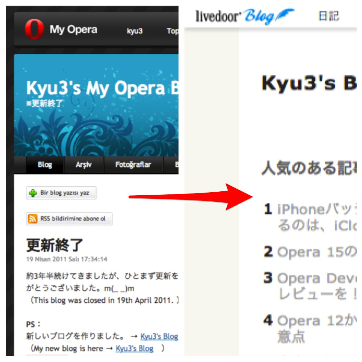 「My Opera」のブログ記事を「ライブドアブログ」(このブログ)に移行!
