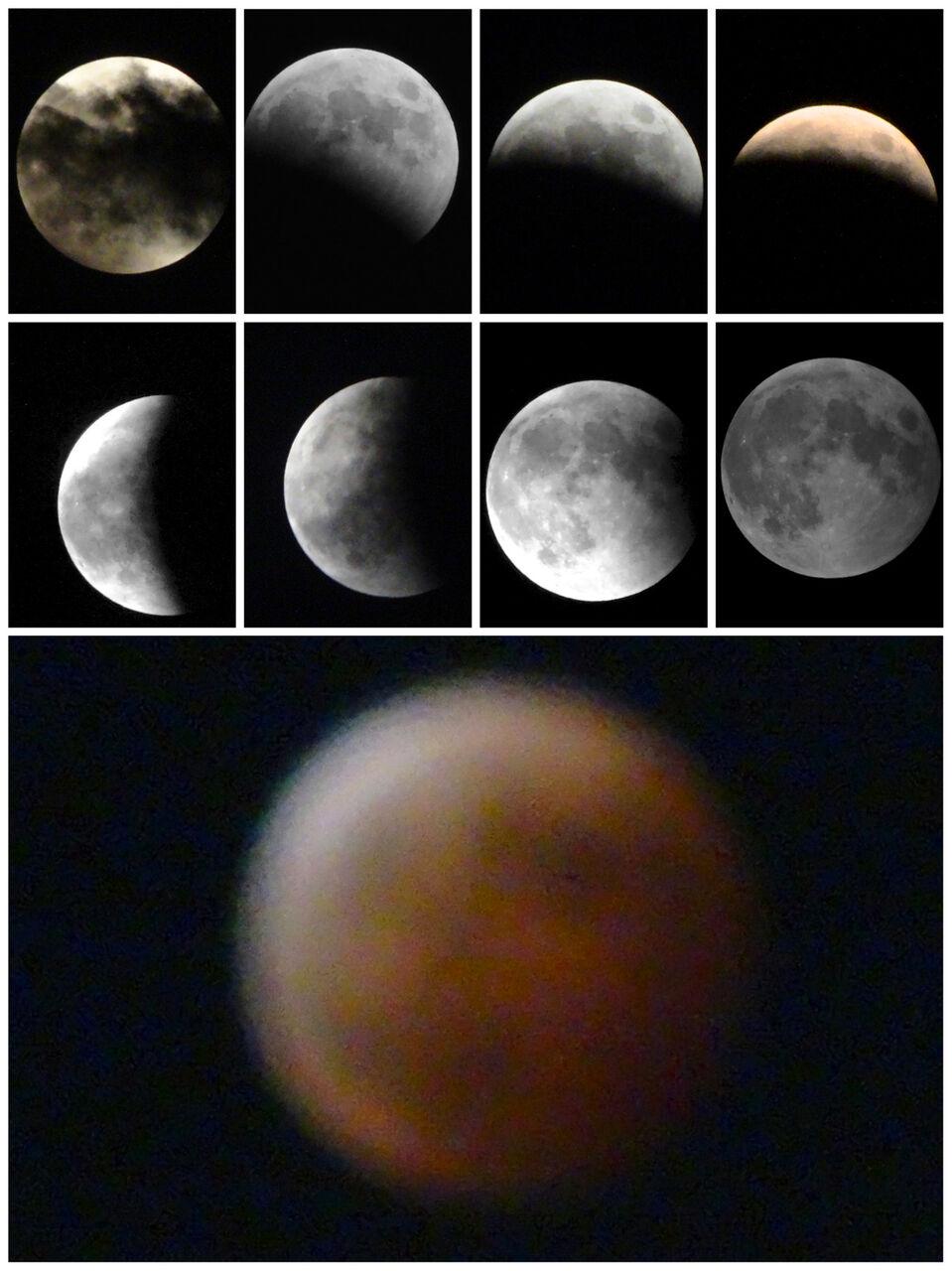 「皆既月食」に関する覚え書き(写真、名古屋市科学館、他)