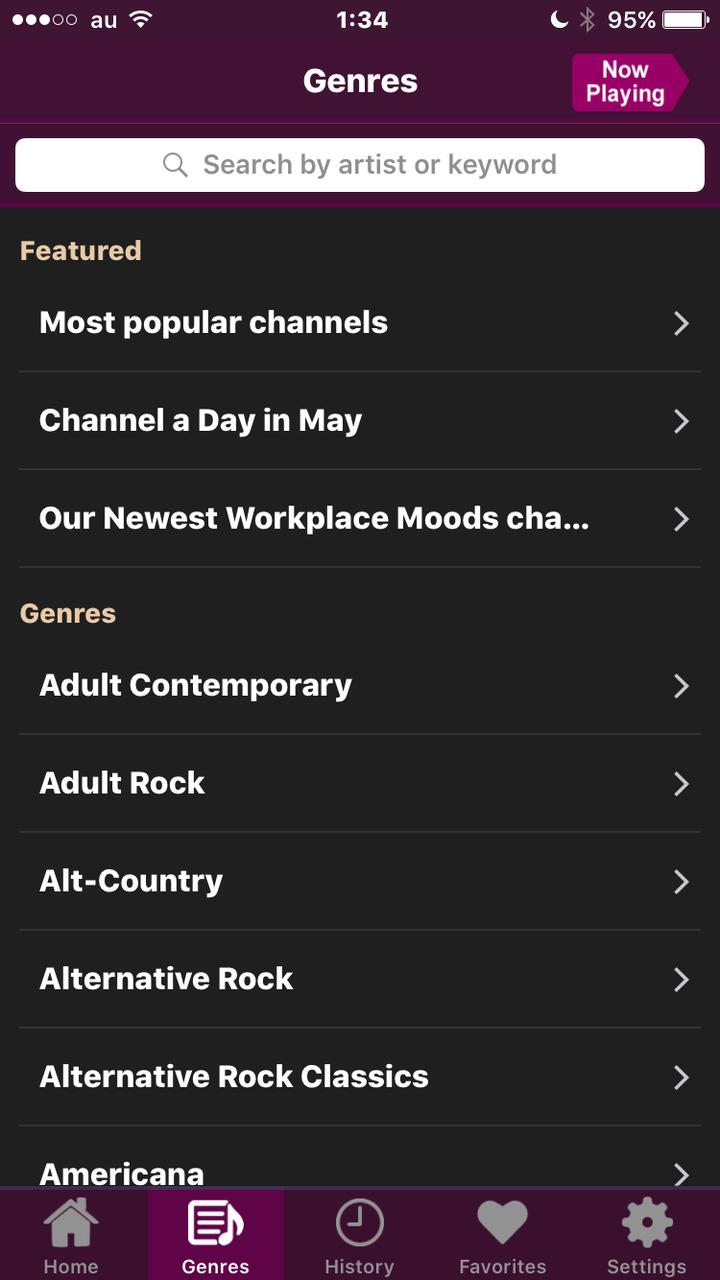 AccuRadio 2.32 No - 8:チャンネル検索